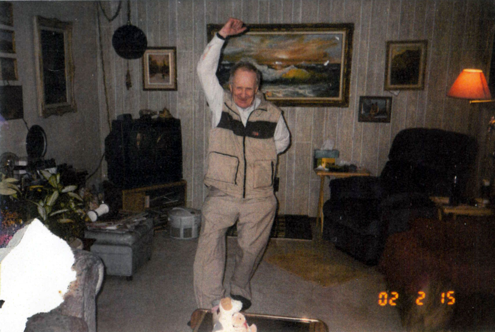 Max Juby dancing at the home of Geologist John Lill, in Toronto