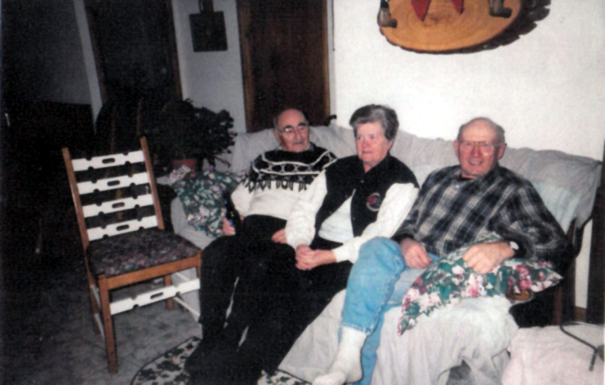 Sault Ste Marie - brother Lindsay and wife Rose Mary, with Albert Decker from Gowganda (north of Sudbury)