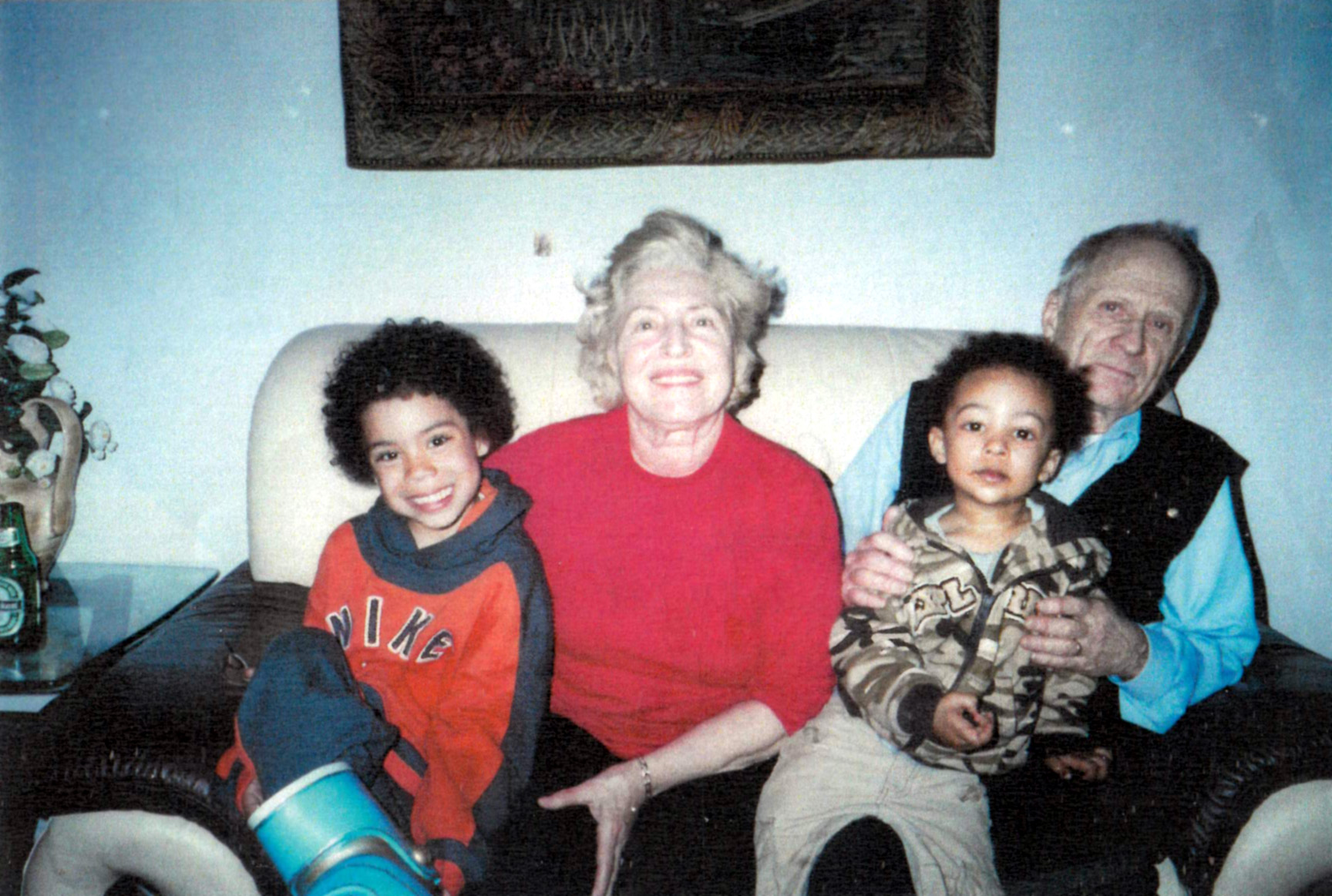 With grandsons Jahni and Jaden